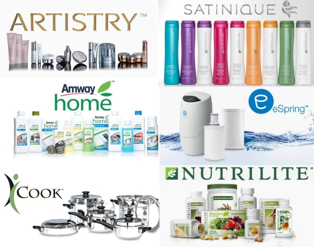 Lineas de Amway home nutrilite satinique artistry icook espring